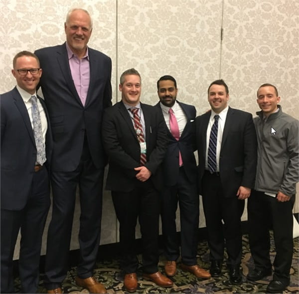 Height comparison with our 2018 Med-Ed Day guest speaker, Mark Eaton.