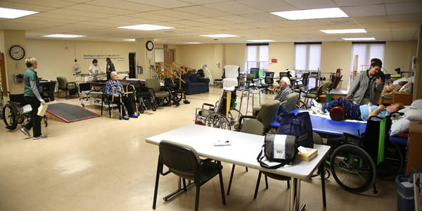 Physical therapy gym at UPMC Susquehanna
