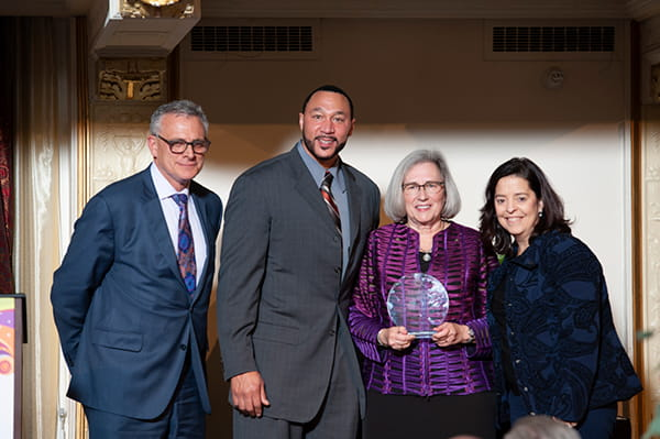 Steven Shapiro, Charlie Batch, Anne Newman, and Deborah Brodine