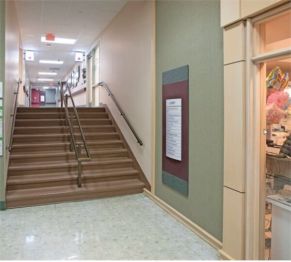 Stairs From Main Lobby To Get To Elevators 5 And 6