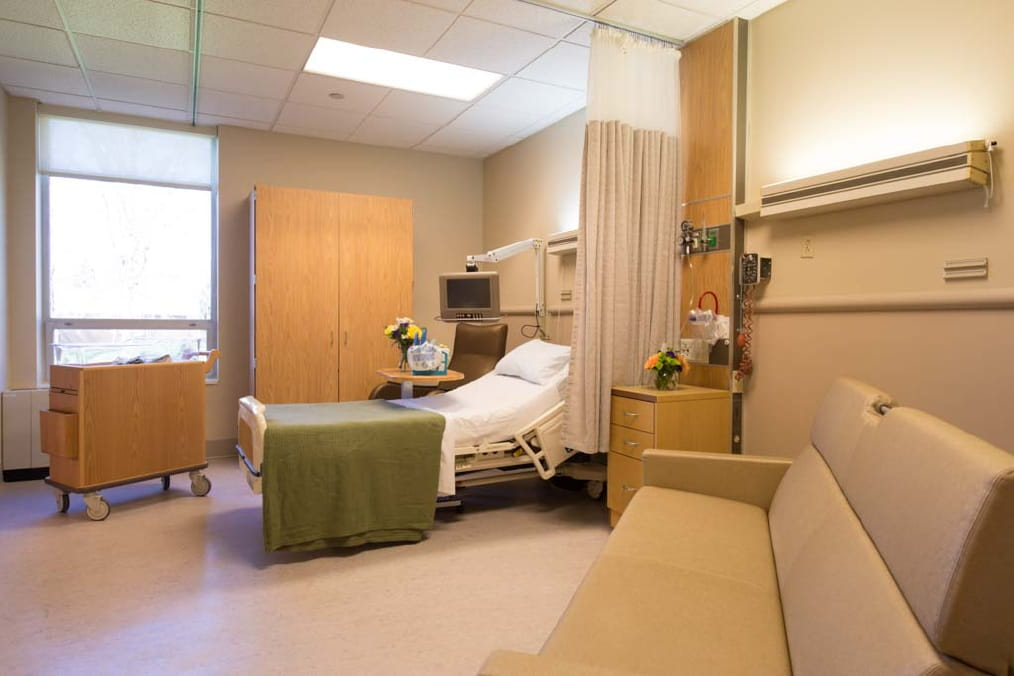 The patient rooms on the mother-baby unit include space for an overnight guest, if you would like your support person to stay with you.