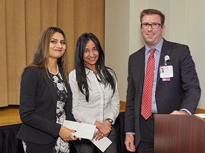 Accepting the UPMC-wide LEAP Award for Patient Safety and Quality Improvement
