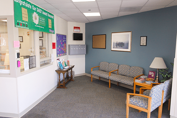 Our behavioral health waiting room is a comfortable and safe enviroment we provide to our patients and their loved ones.