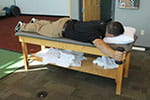Joe Micca demonstrates prone horizontal abduction - full 100 degrees