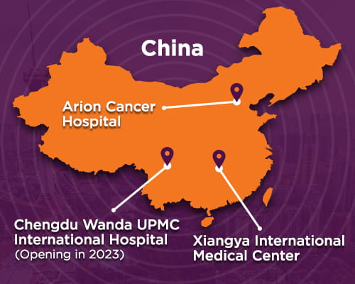 Map of China | UPMC International Division