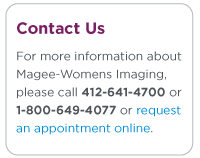 Request an appointment at a Magee Womens Imaging location