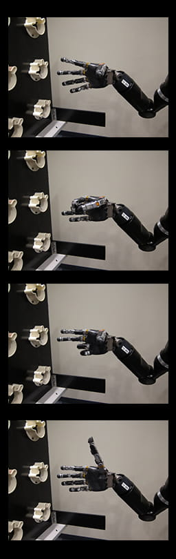 Image of a thought controlled robotic arm