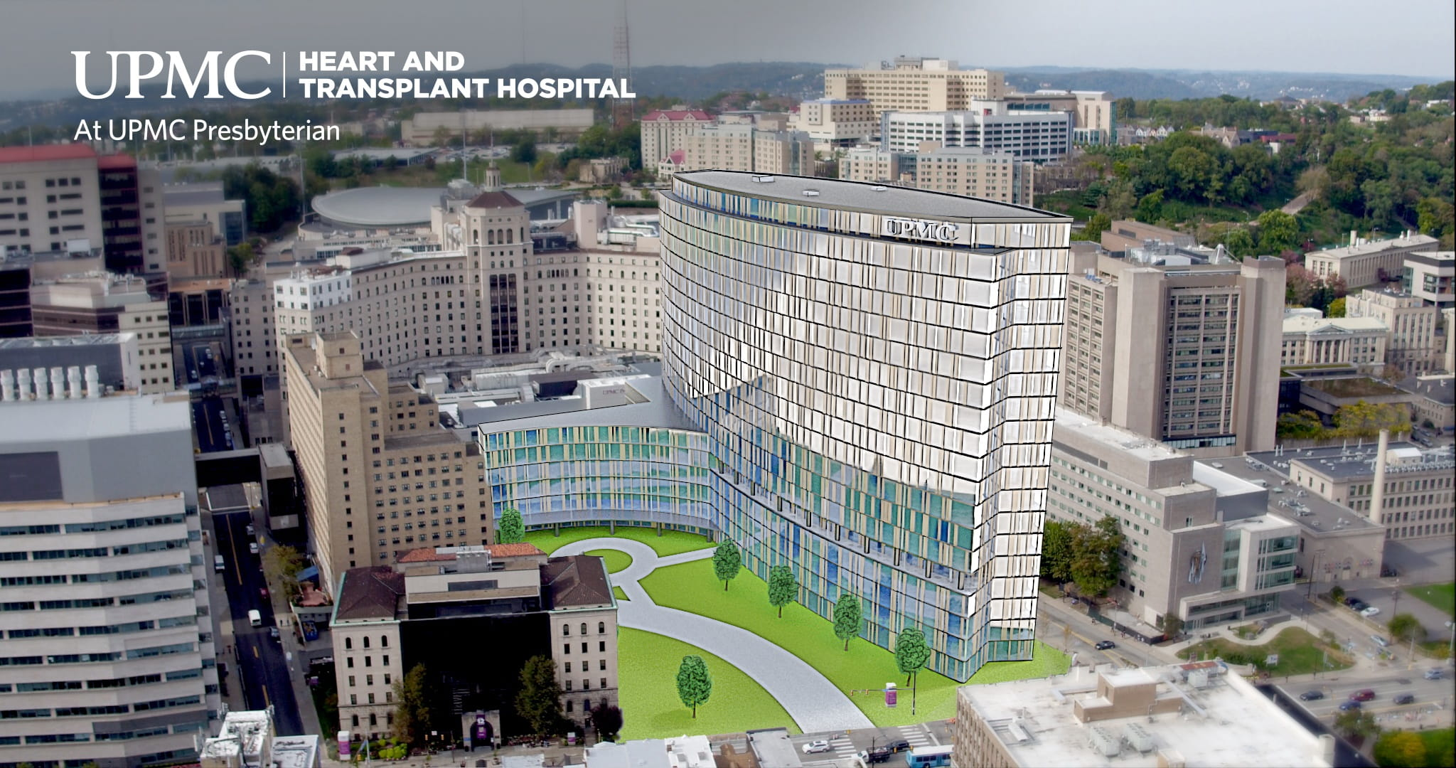 UPMC Heart and Transplant Hospital at UPMC Presbyterian artist rendering