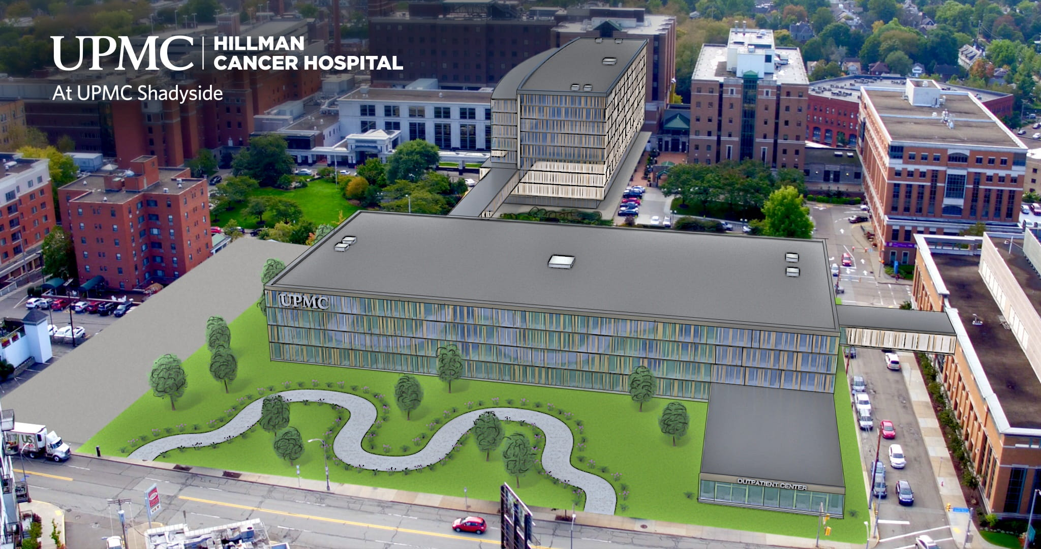 UPMC Hillman Cancer Hospital at UPMC Shadyside artist rendering