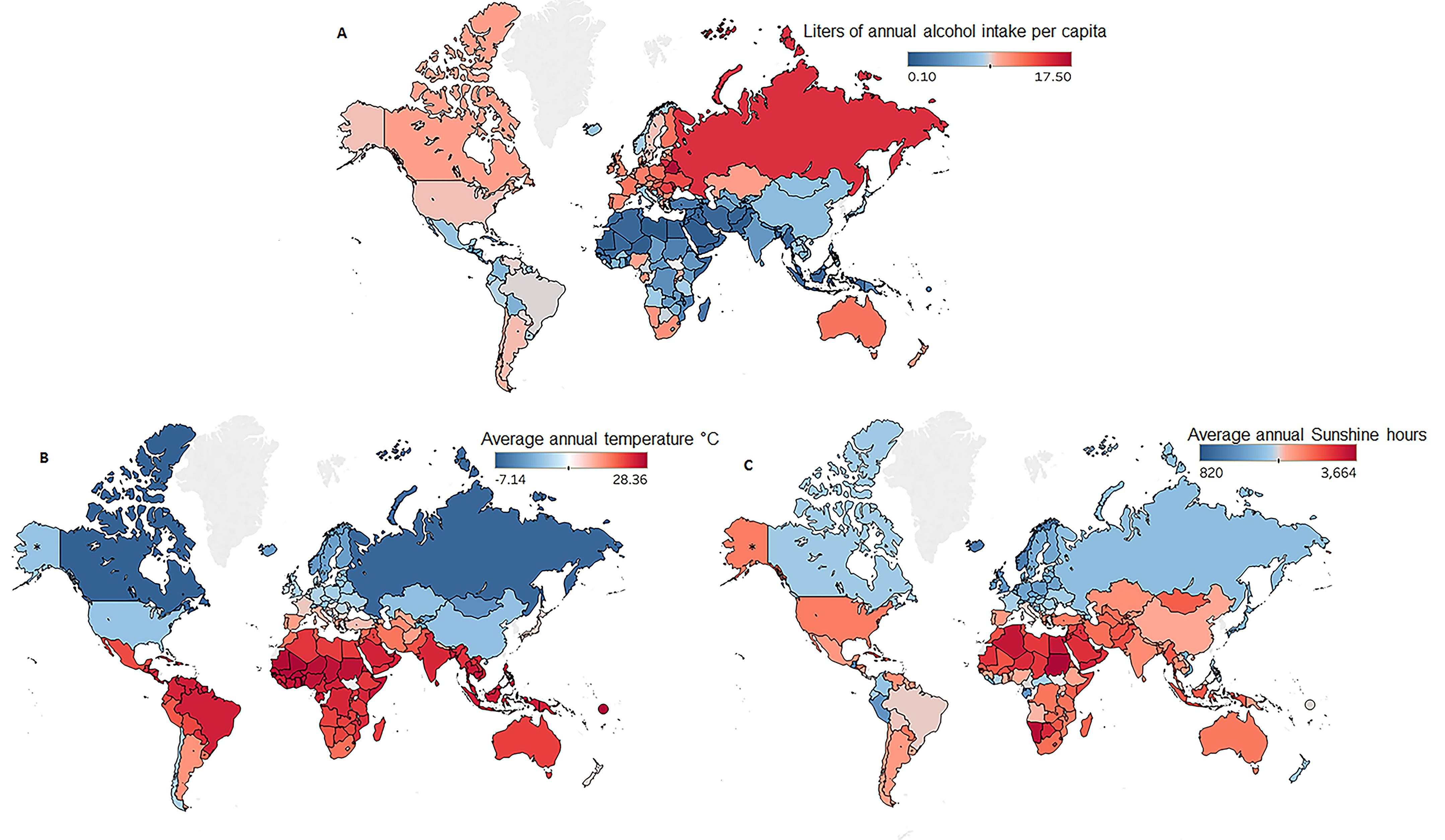 world map drinking