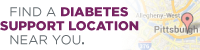 Opens map and address list of all UPMC diabetes centers