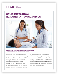 Intestinal Rehabilitation Fact Sheet - Front Page