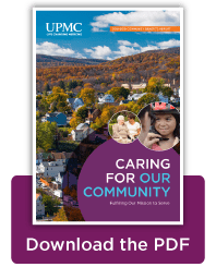 Caring for Our Community Thumbnail | UPMC Community Benefits Report